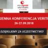 Podziękowanie za udział w Jesiennej Konferencji Veritum 2018