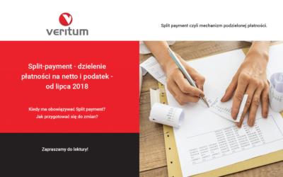 Split-payment – dzielenie płatności na netto i podatek – od lipca 2018