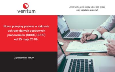 Nowe przepisy prawne w zakresie ochrony danych osobowych pracowników (RODO, GDPR) od 25 maja 2018r.
