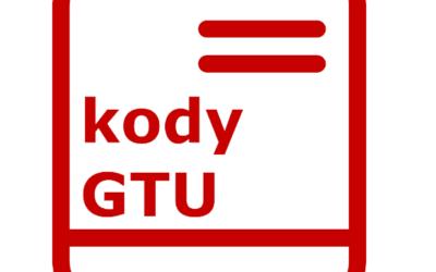 Kody GTU (Grupy Towarów i Usług) – oznaczenia grupowania i szczegółowa lista w odniesieniu do JKP_V7