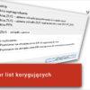 Nowy kreator list korygujących 2.5.0