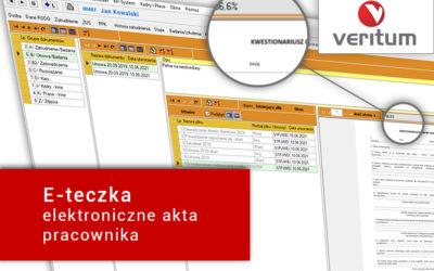 E-teczka w Veritum – elektroniczne akta pracownika