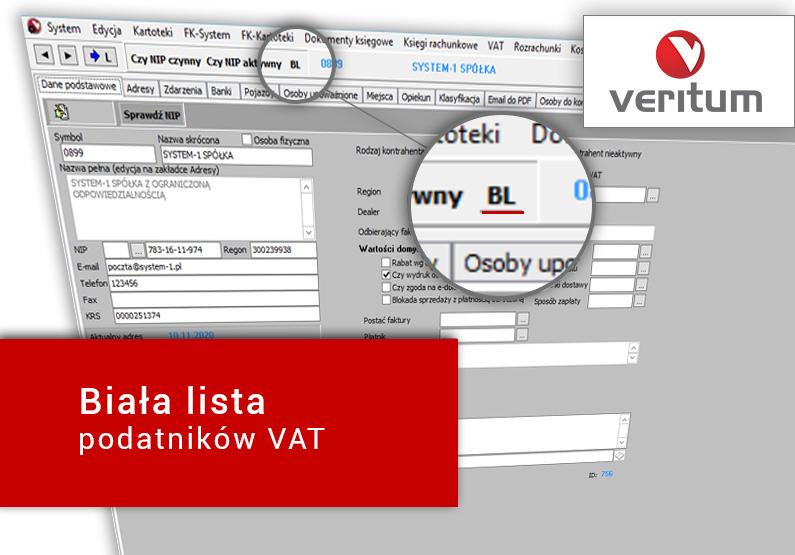 Biała lista – jak weryfikować czynnych podatników VAT w systemie księgowym?